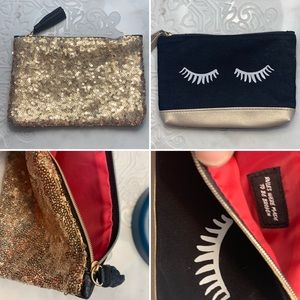 2 ipsy makeup bags, tons of uses